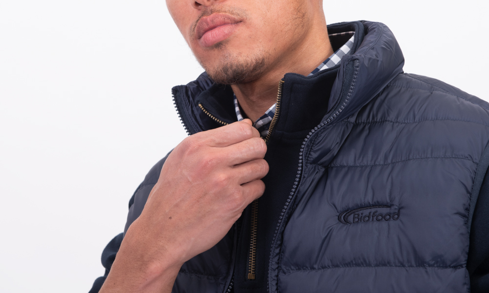 embroidery on puffer vest